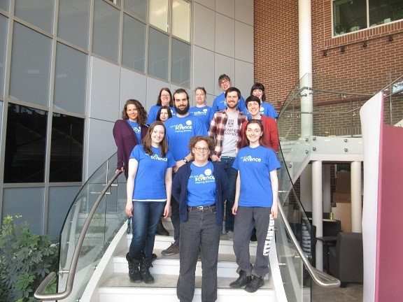 Dr. Christine Campbell and LTS volunteers; photo by D. Walsh.